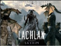 A4 SKYRIM Edible Icing or Wafer Birthday Cake Topper Elder Scrolls